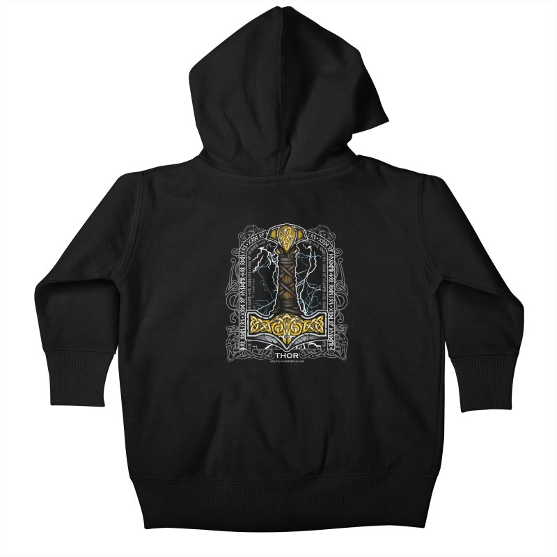 Thor Odinson, God of Thunder (Full Color) Kids Baby Zip-Up Hoody by Celtic Hammer Club Apparel