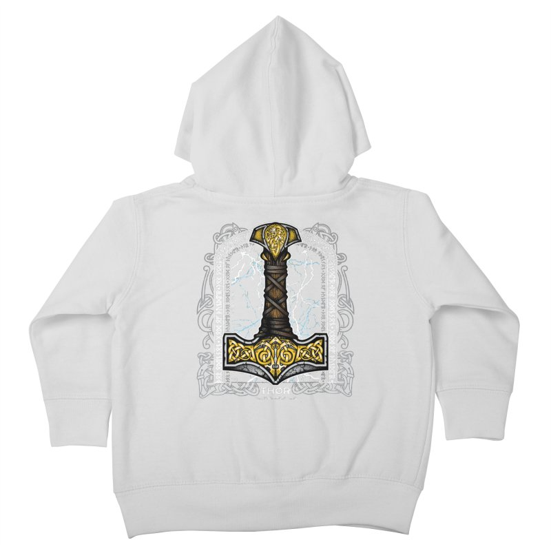 Thor Odinson, God of Thunder (Full Color) Kids Toddler Zip-Up Hoody by Celtic Hammer Club