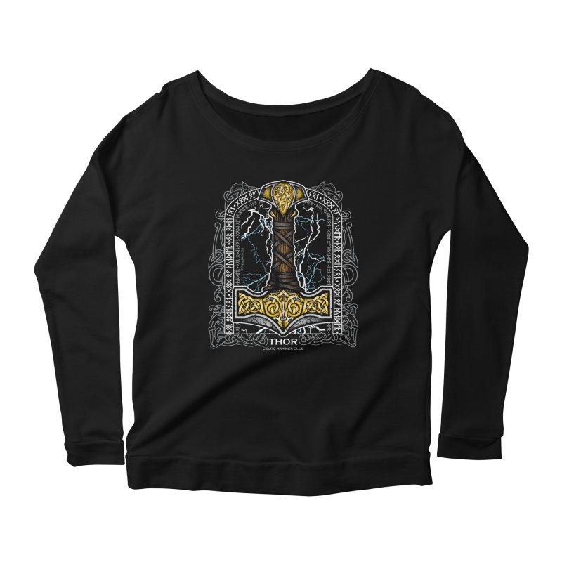 Thor Odinson, God of Thunder (Full Color) Women's Scoop Neck Longsleeve T-Shirt by Celtic Hammer Club