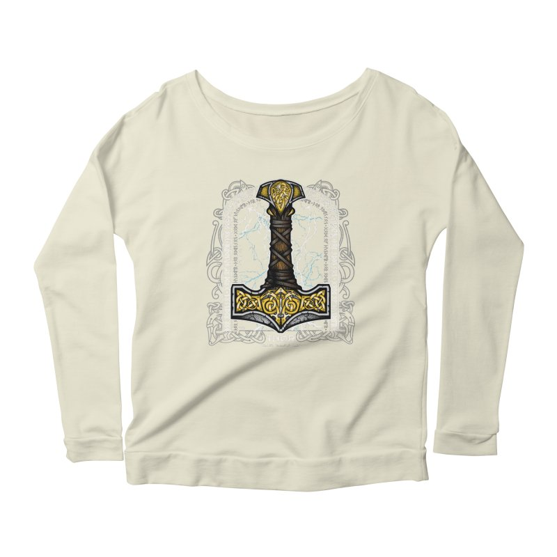 Thor Odinson, God of Thunder (Full Color) Women's Scoop Neck Longsleeve T-Shirt by Celtic Hammer Club Apparel