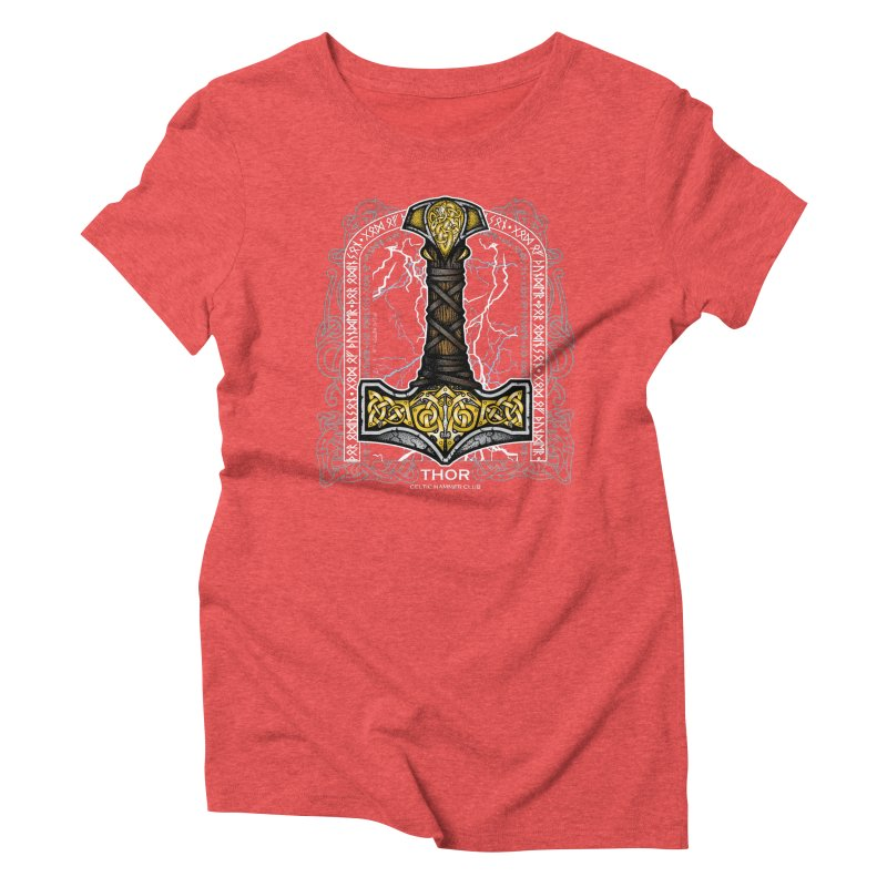 Thor Odinson, God of Thunder (Full Color) Women's Triblend T-Shirt by Celtic Hammer Club