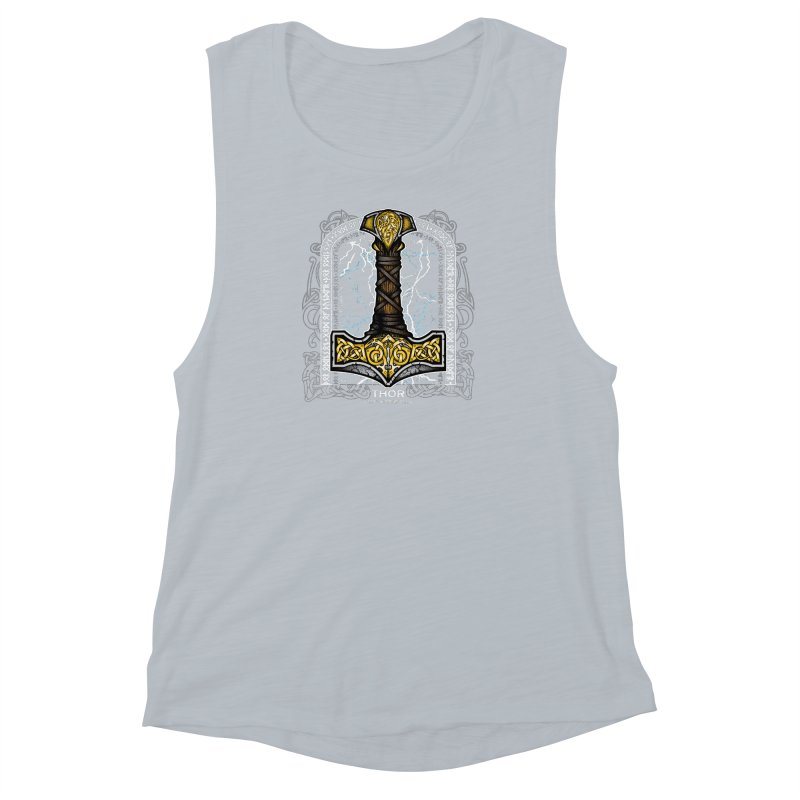 Thor Odinson, God of Thunder (Full Color) Women's Muscle Tank by Celtic Hammer Club