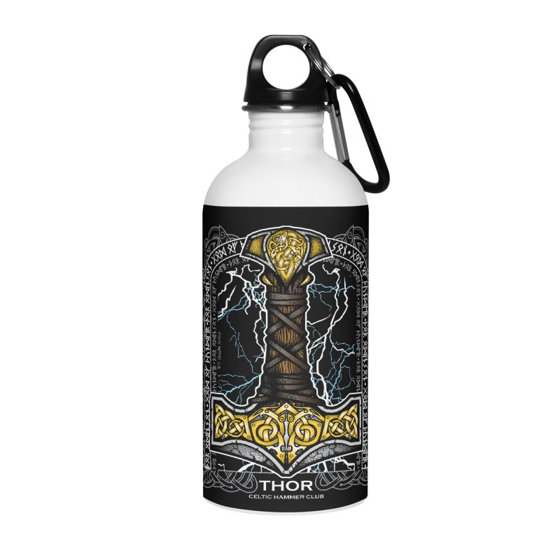 Thor Odinson, God of Thunder (Full Color) Accessories Water Bottle by Celtic Hammer Club Apparel