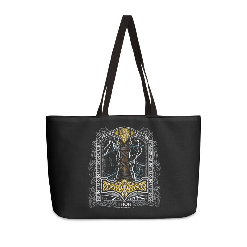 Thor Odinson, God of Thunder (Full Color) Accessories Weekender Bag Bag by Celtic Hammer Club
