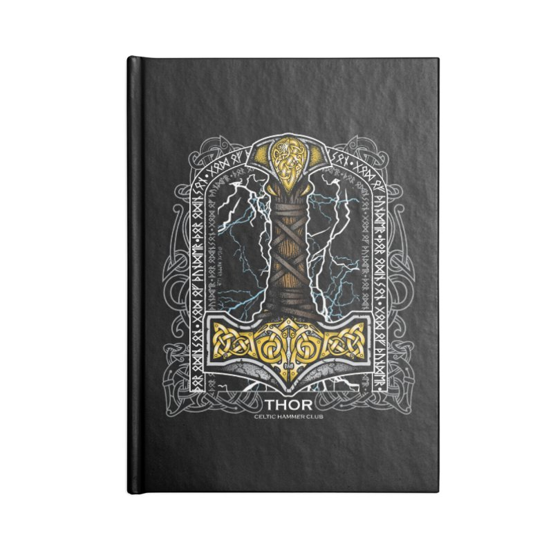 Thor Odinson, God of Thunder (Full Color) Accessories Notebook by Celtic Hammer Club Apparel