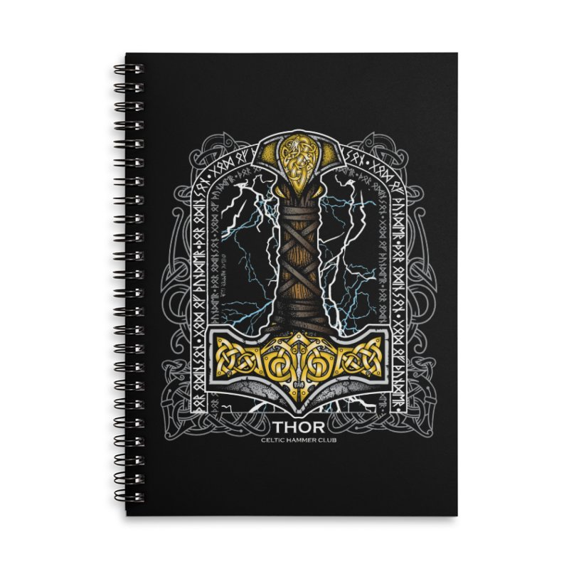 Thor Odinson, God of Thunder (Full Color) Accessories Notebook by Celtic Hammer Club