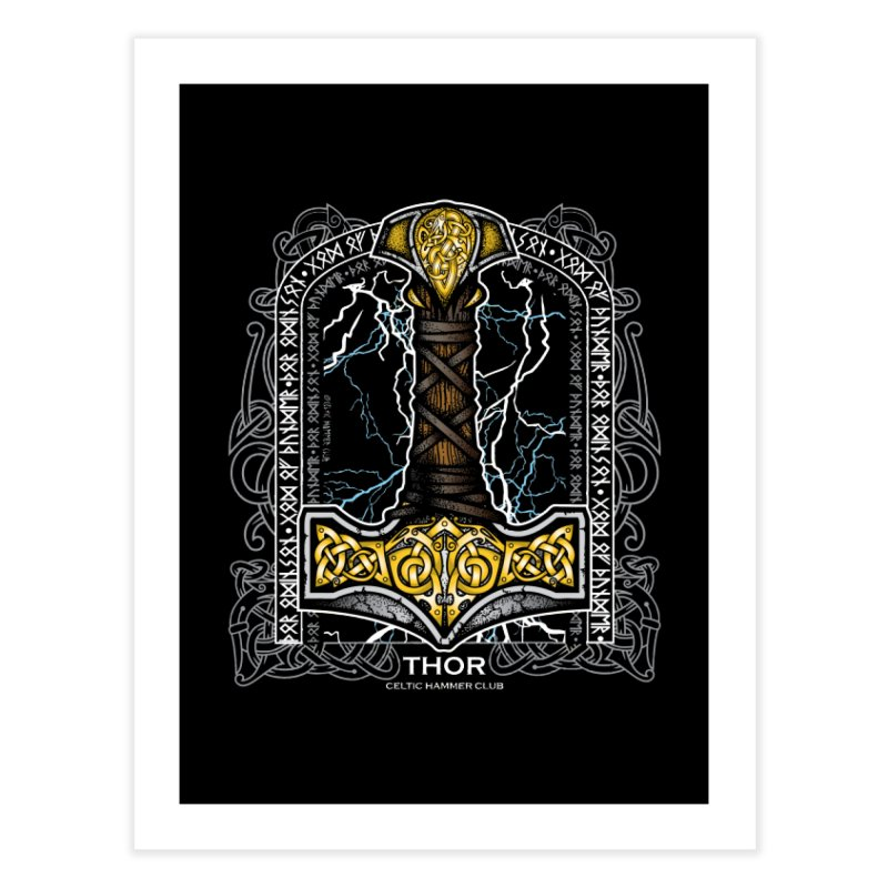 Thor Odinson, God of Thunder (Full Color) Home Fine Art Print by Celtic Hammer Club