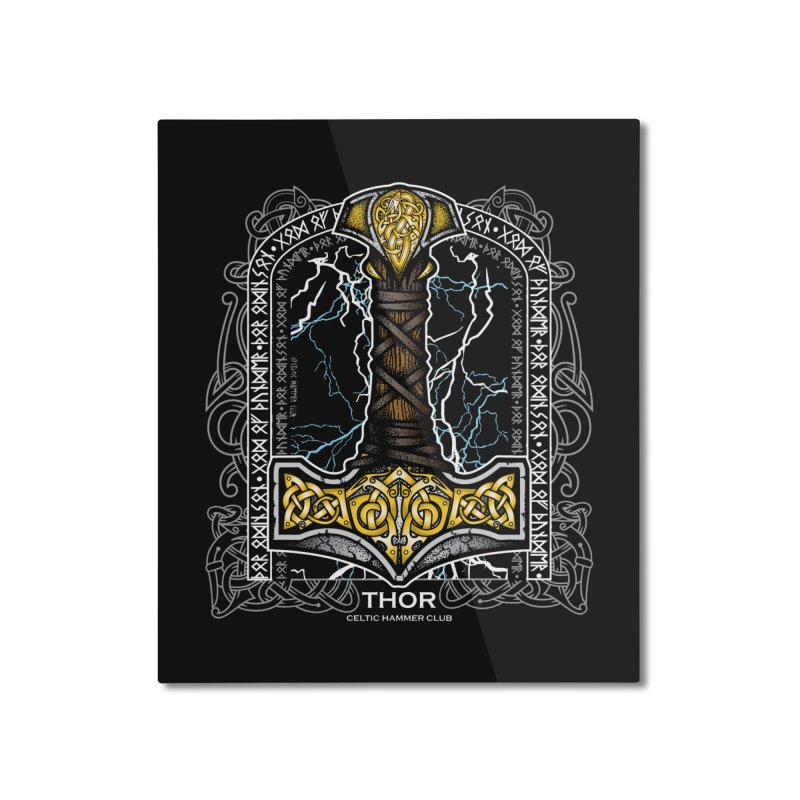 Thor Odinson, God of Thunder (Full Color) Home Mounted Aluminum Print by Celtic Hammer Club