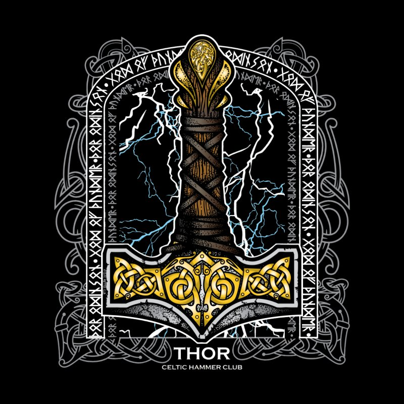 God of Thunder (Full Color) in  by Celtic Hammer Club Apparel