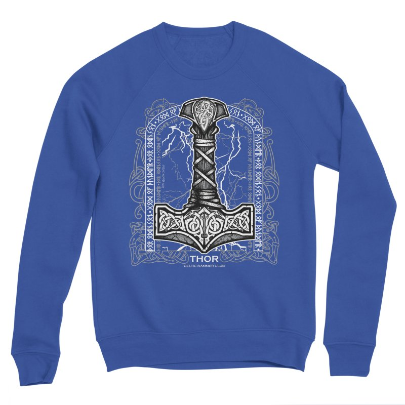 Thor Odinson, God of Thunder (Grayscale) Men's Sweatshirt by Celtic Hammer Club