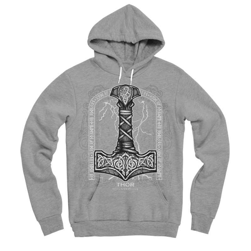 Thor Odinson, God of Thunder (Grayscale) Men's Sponge Fleece Pullover Hoody by Celtic Hammer Club