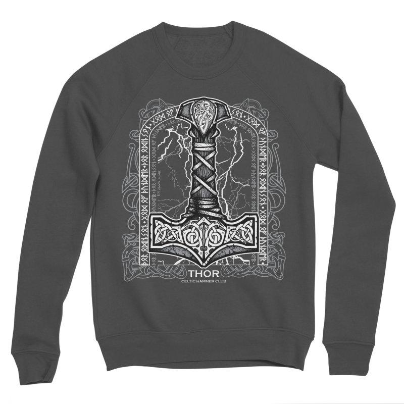 Thor Odinson, God of Thunder (Grayscale) Men's Sponge Fleece Sweatshirt by Celtic Hammer Club
