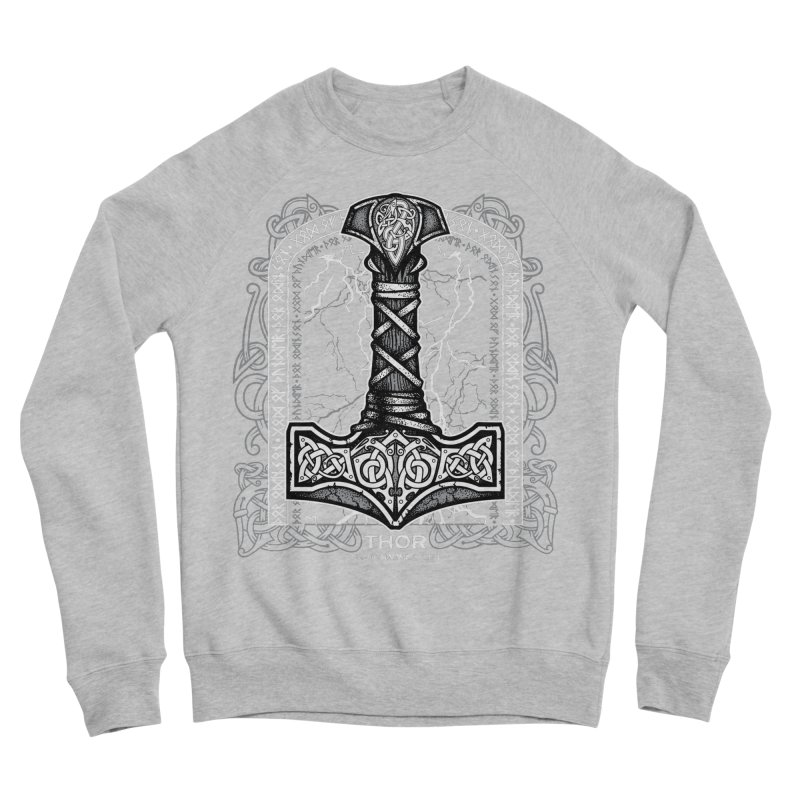 Thor Odinson, God of Thunder (Grayscale) Men's Sponge Fleece Sweatshirt by Celtic Hammer Club Apparel