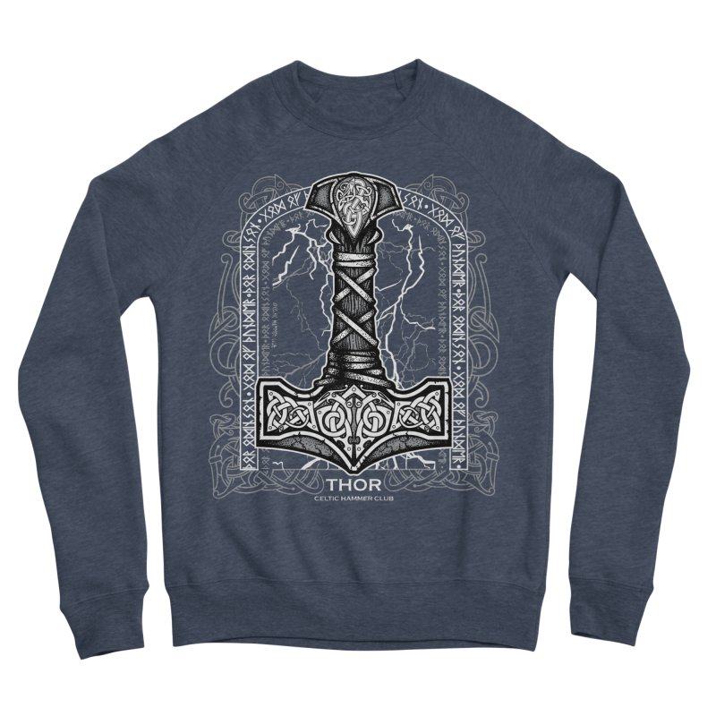 Thor Odinson, God of Thunder (Grayscale) Men's Sponge Fleece Sweatshirt by Celtic Hammer Club