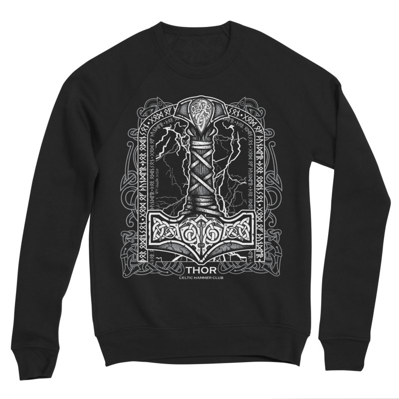 Thor Odinson, God of Thunder (Grayscale) Women's Sponge Fleece Sweatshirt by Celtic Hammer Club