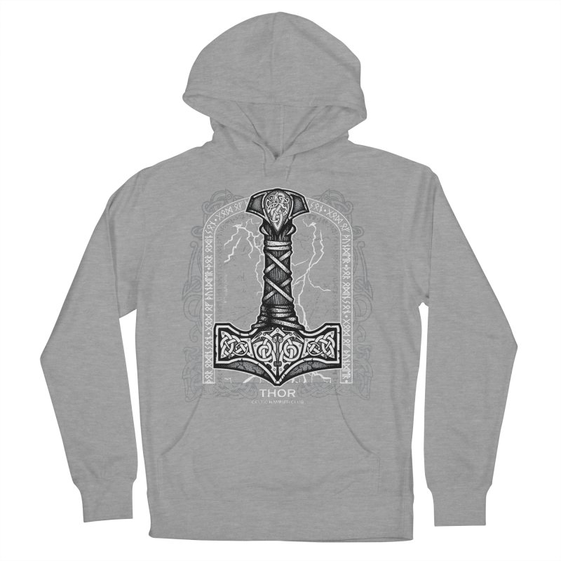 Thor Odinson, God of Thunder (Grayscale) Women's Pullover Hoody by Celtic Hammer Club