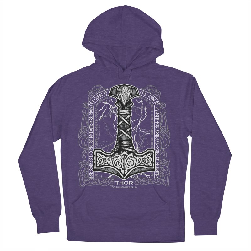 Thor Odinson, God of Thunder (Grayscale) Women's French Terry Pullover Hoody by Celtic Hammer Club