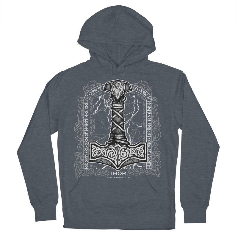 Thor Odinson, God of Thunder (Grayscale) Women's French Terry Pullover Hoody by Celtic Hammer Club Apparel
