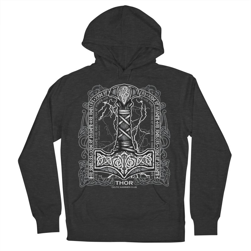 Thor Odinson, God of Thunder (Grayscale) Men's French Terry Pullover Hoody by Celtic Hammer Club Apparel