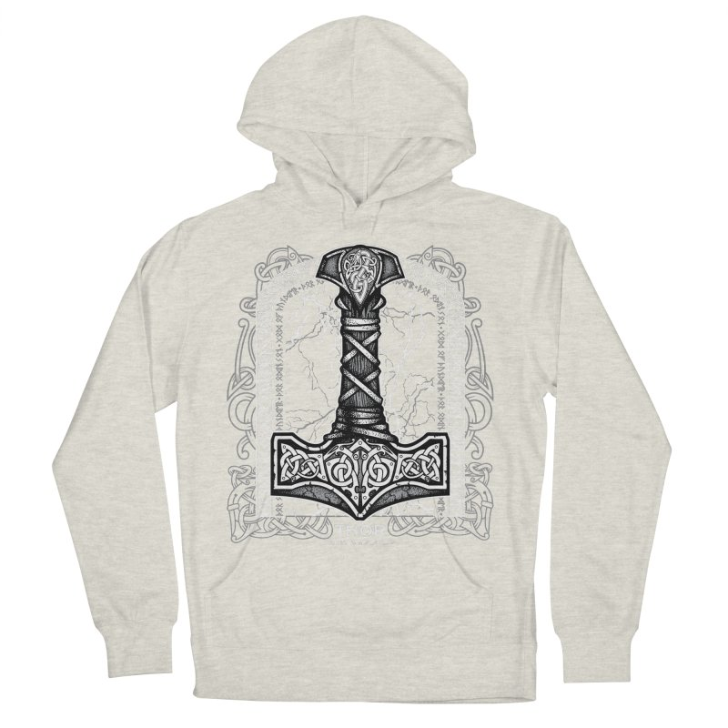 Thor Odinson, God of Thunder (Grayscale) Men's French Terry Pullover Hoody by Celtic Hammer Club