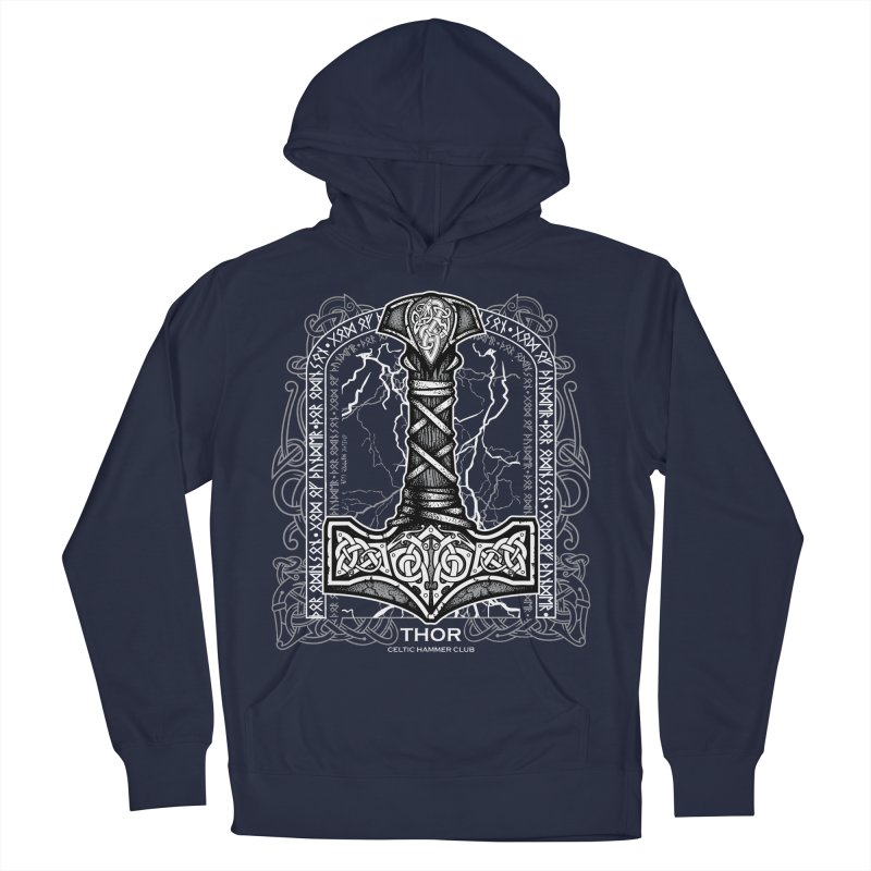 Thor Odinson, God of Thunder (Grayscale) Men's Pullover Hoody by Celtic Hammer Club