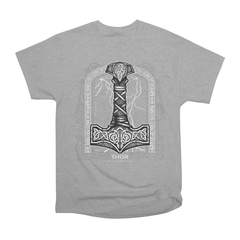 Thor Odinson, God of Thunder (Grayscale) Men's Heavyweight T-Shirt by Celtic Hammer Club