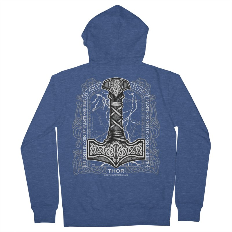Thor Odinson, God of Thunder (Grayscale) Women's French Terry Zip-Up Hoody by Celtic Hammer Club Apparel