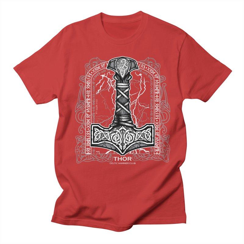 Thor Odinson, God of Thunder (Grayscale) Men's Regular T-Shirt by Celtic Hammer Club