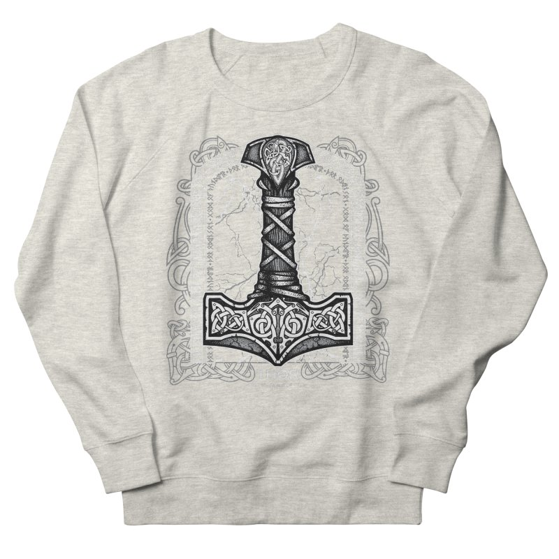 Thor Odinson, God of Thunder (Grayscale) Women's French Terry Sweatshirt by Celtic Hammer Club Apparel
