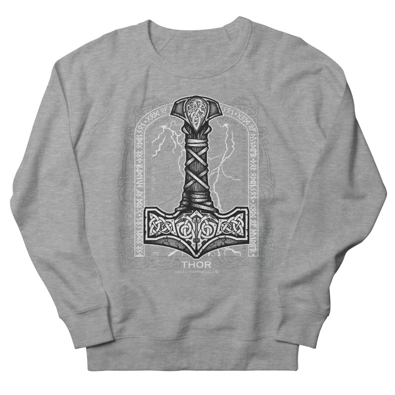 Thor Odinson, God of Thunder (Grayscale) Men's French Terry Sweatshirt by Celtic Hammer Club