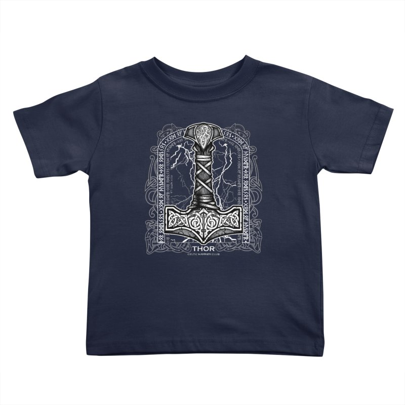 Thor Odinson, God of Thunder (Grayscale) Kids Toddler T-Shirt by Celtic Hammer Club