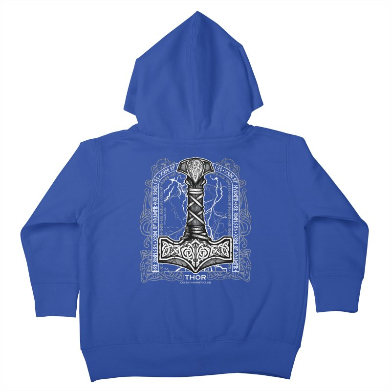 Thor Odinson, God of Thunder (Grayscale) Kids Toddler Zip-Up Hoody by Celtic Hammer Club