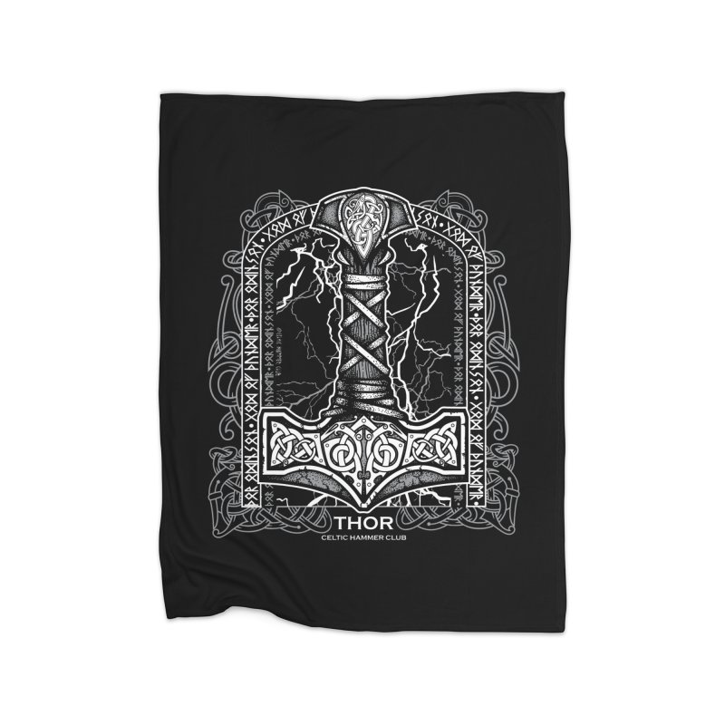 Thor Odinson, God of Thunder (Grayscale) Home Blanket by Celtic Hammer Club