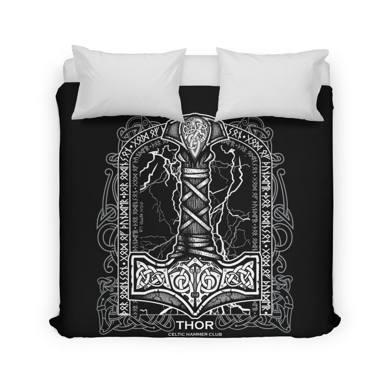Thor Odinson, God of Thunder (Grayscale) Home Duvet by Celtic Hammer Club
