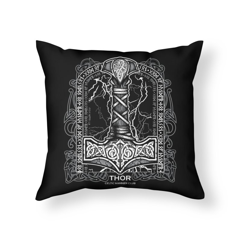 Thor Odinson, God of Thunder (Grayscale) Home Throw Pillow by Celtic Hammer Club Apparel