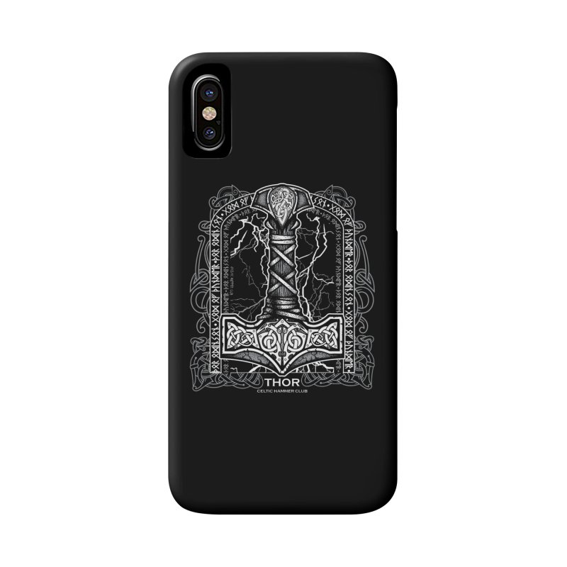 Thor Odinson, God of Thunder (Grayscale) Accessories Phone Case by Celtic Hammer Club