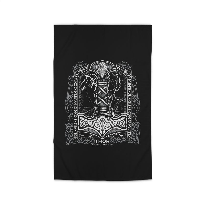 Thor Odinson, God of Thunder (Grayscale) Home Rug by Celtic Hammer Club