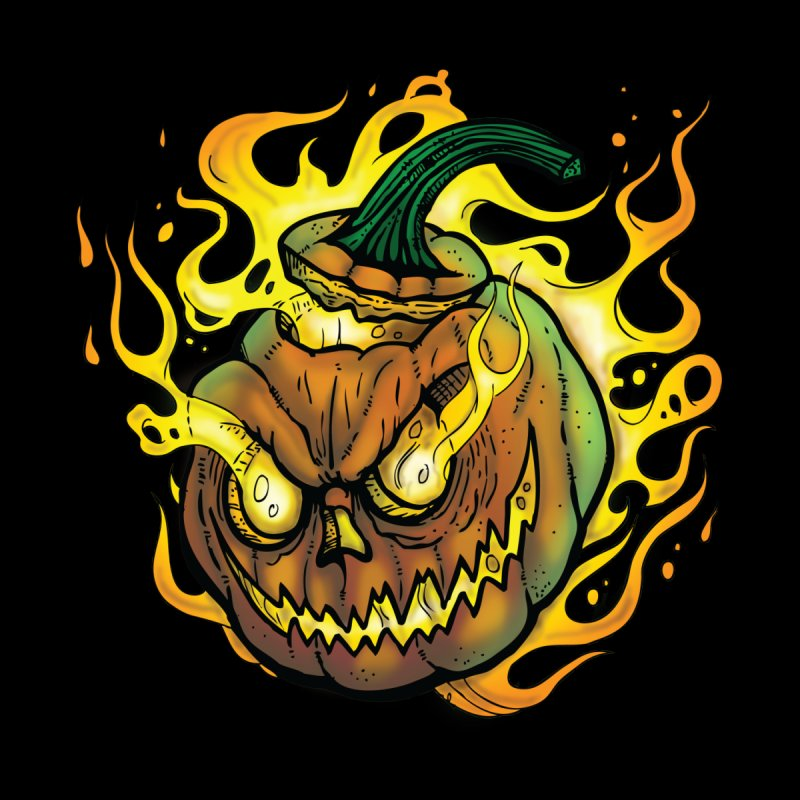 Possessed Jack O' Lantern Home Throw Pillow by Celtic Hammer Club