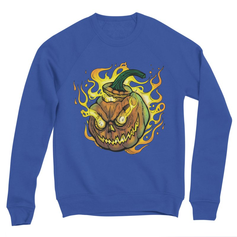 Possessed Jack O' Lantern Men's Sweatshirt by Celtic Hammer Club