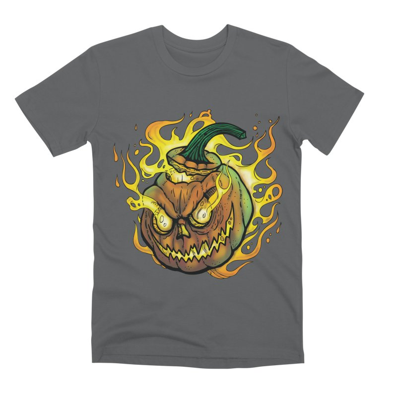 Possessed Jack O' Lantern Men's Premium T-Shirt by Celtic Hammer Club Apparel