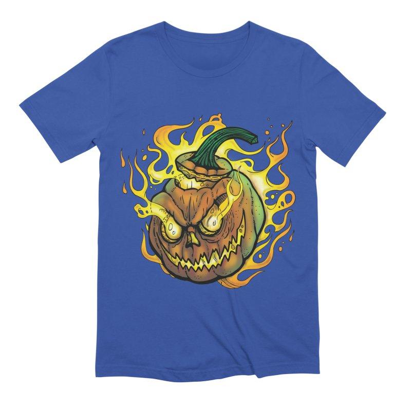 Possessed Jack O' Lantern Men's Extra Soft T-Shirt by Celtic Hammer Club