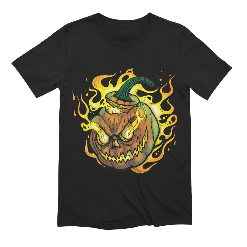 Possessed Jack O' Lantern Men's Extra Soft T-Shirt by Celtic Hammer Club
