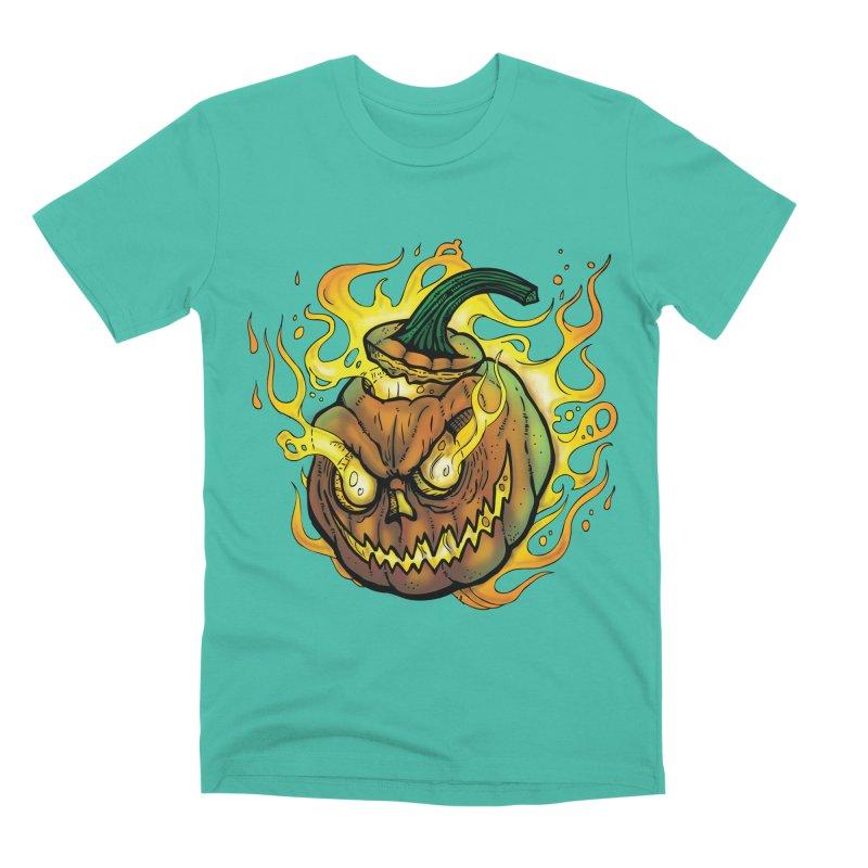 Possessed Jack O' Lantern Men's Premium T-Shirt by Celtic Hammer Club