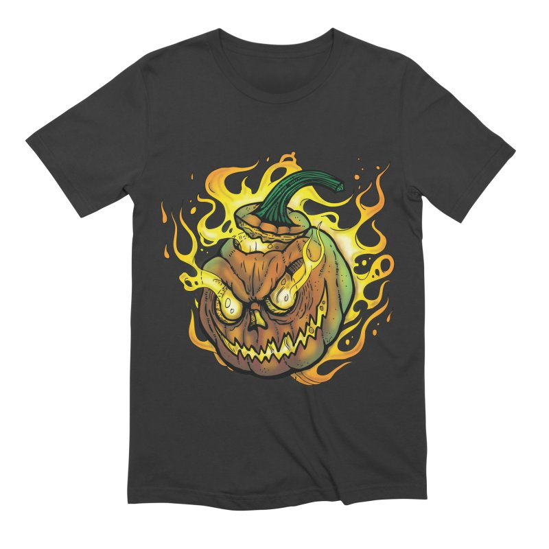 Possessed Jack O' Lantern Men's Extra Soft T-Shirt by Celtic Hammer Club Apparel