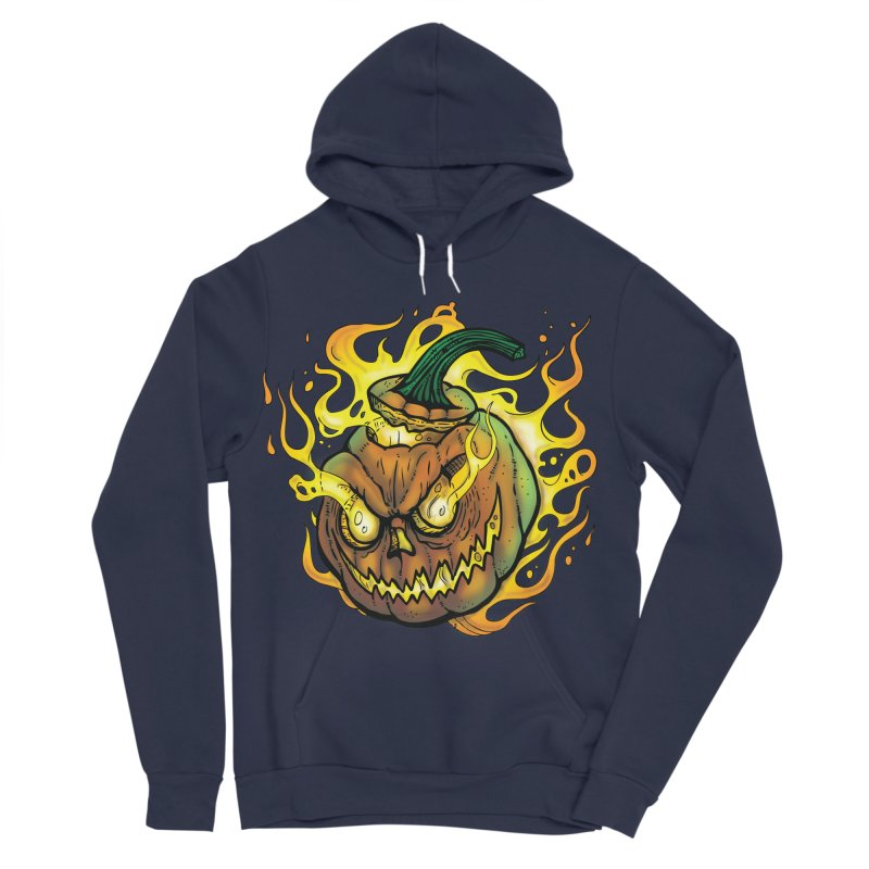 Possessed Jack O' Lantern Men's Sponge Fleece Pullover Hoody by Celtic Hammer Club