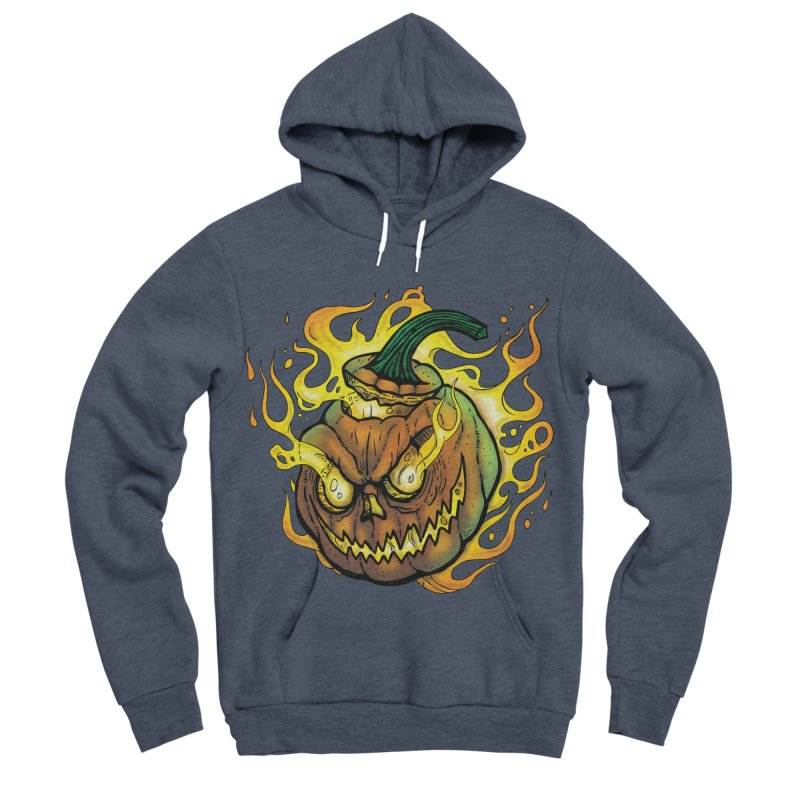 Possessed Jack O' Lantern Women's Sponge Fleece Pullover Hoody by Celtic Hammer Club Apparel