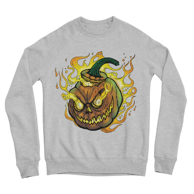 Possessed Jack O' Lantern Men's Sponge Fleece Sweatshirt by Celtic Hammer Club Apparel