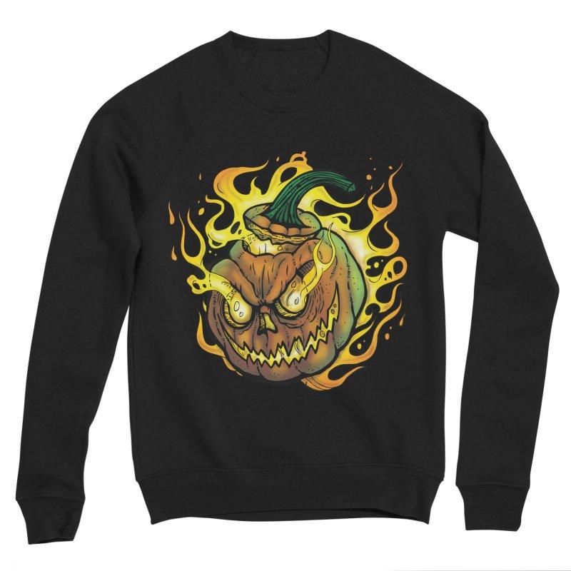 Possessed Jack O' Lantern Men's Sponge Fleece Sweatshirt by Celtic Hammer Club