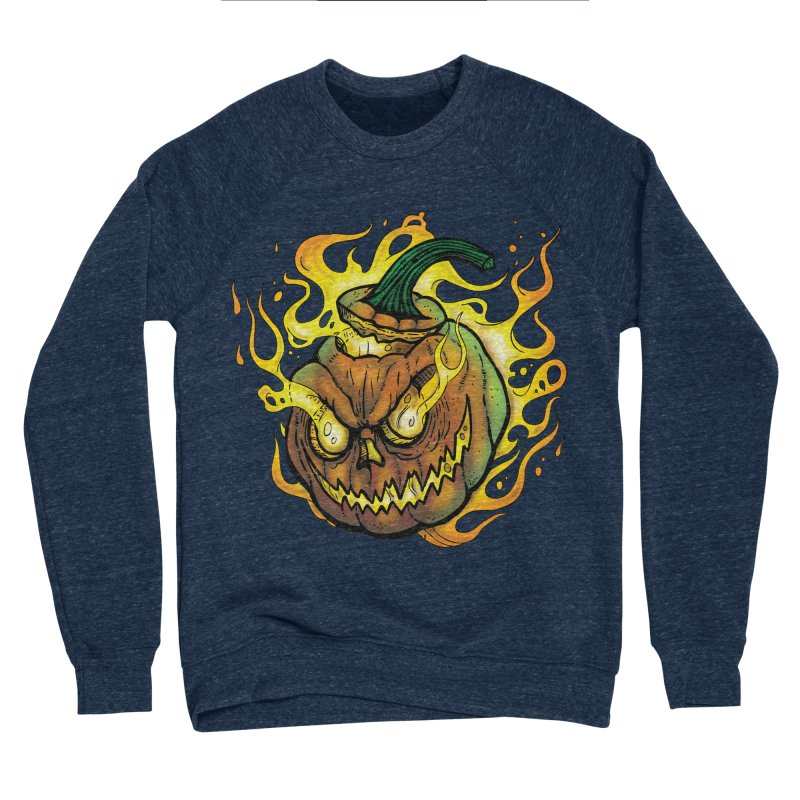 Possessed Jack O' Lantern Women's Sponge Fleece Sweatshirt by Celtic Hammer Club