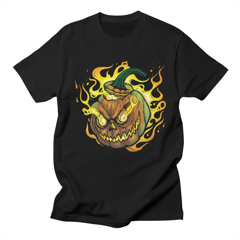 Possessed Jack O' Lantern in Men's Regular T-Shirt Black by Celtic Hammer Club